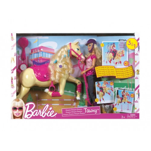 Barbie Champion Tawny Horse & Doll